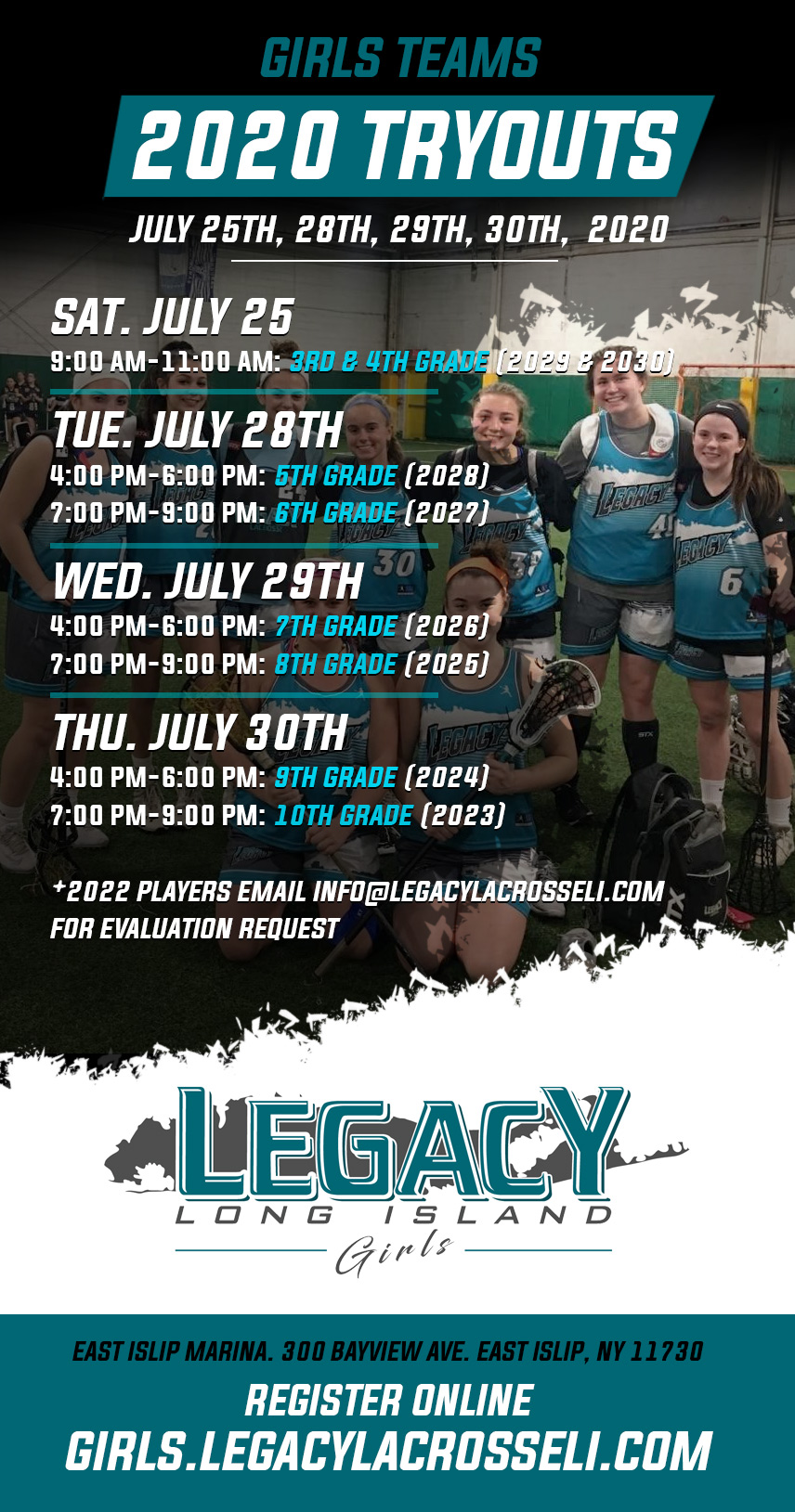 Tryout Dates Girls 2020