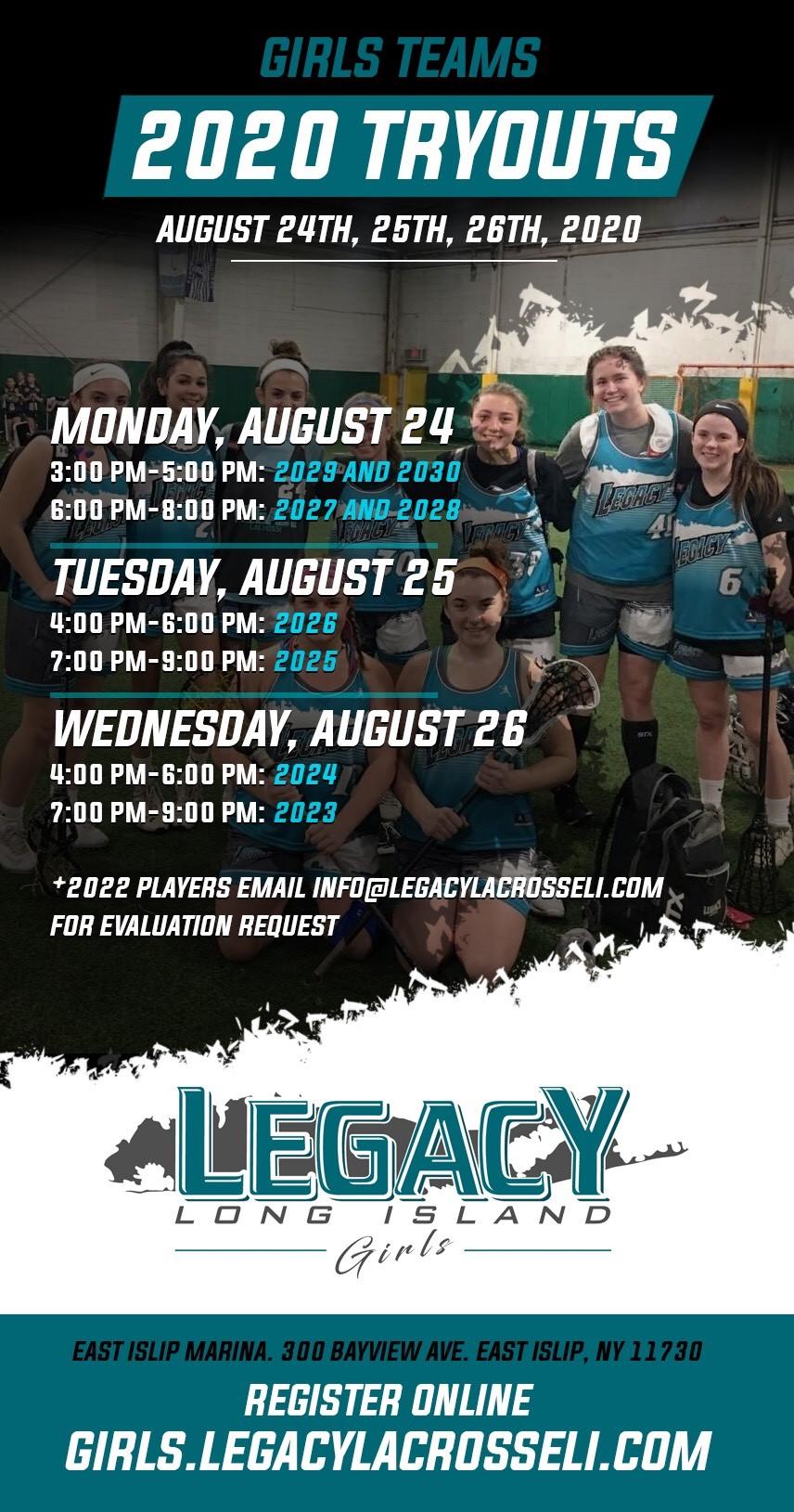 Legacy Girls Tryouts 2020-2021